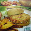 Salmon Burgers with Sweet Potato Oven Fries