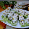 Celery with Apricot Blue Cheese Spread