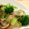 Warm Broccoli Mushroom Salad
