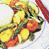 Springtime Stir-Fry with Scallops & California Jumbo Asparagus