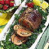 Mushroom Stuffed Eye of Round Roast