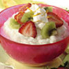 Creamy Rice Pudding with Strawberries and Kiwi