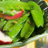 Snow Pea Salad with Hot Chili Dressing