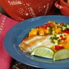 Cumin Dusted Red Snapper with California Cling Peach Salsa