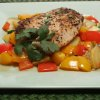 Pan-Saut�ed Tilapia with Gingered Vegetables