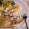 Tilapia with Cucumber Radish Relish