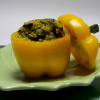 Quinoa-Stuffed Yellow Peppers