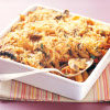 Mushroom, Tomato and Cheese Pasta Bake