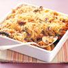 Mushroom, Tomato and Cheese Pasta Bake